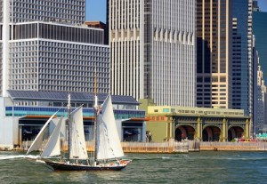 Financial District & Sailboat